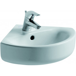 CONNECT Lavabo d'angle 340 x 340 mm blanc Ideal Plus (E7136MA)