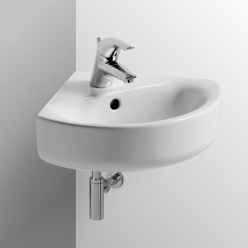 connect lavabo d 39 angle 340 x 340 mm blanc ideal plus e7136ma livea sanitaire sas. Black Bedroom Furniture Sets. Home Design Ideas
