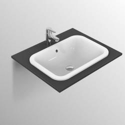 CONNECT Lavabo à encastrer sans trou, rectangulaire 500 x 175 x 380 mm, blanc (E505701)