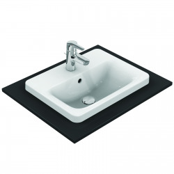 CONNECT Lavabo à encastrer rectangulaire 500 x 175 x 390 mm, blanc (E504301)