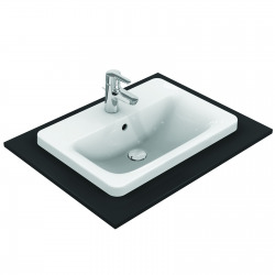 CONNECT Lavabo à encastrer rectangulaire 580 x 175 x 430 mm, blanc (E504401)