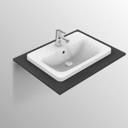 CONNECT Lavabo à encastrer rectangulaire 580 x 175 x 430 mm, blanc (E504401)
