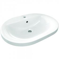 Connect lavabo à encastrer ovale 620 x 175 x 620 mm, blanc (E504001)