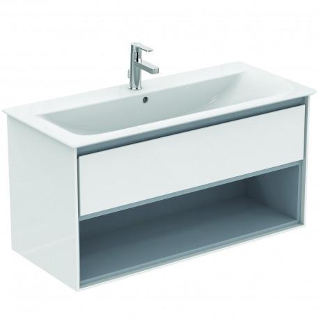 CONNECT AIR Meuble pour lavabo-plan Couleur chêne grisé 517 x 1000 x 440 mm (E0828PS)