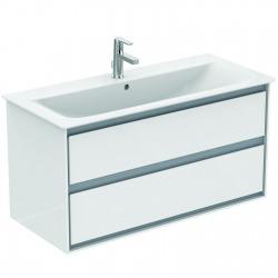 CONNECT AIR Meuble pour lavabo-plan Couleur blanc laqué 517 x 1000 x 440 mm (E0821B2)