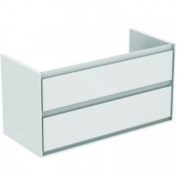 CONNECT AIR Meuble pour lavabo-plan Couleur blanc laqué/ gris plume mat 517 x 1000 x 440 mm (E0821KN)