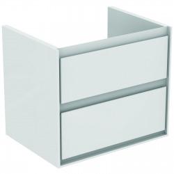 CONNECT AIR Meuble pour lavabo-plan Couleur blanc laqué/gris plume mat (E0818KN)