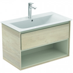 CONNECT AIR Meuble pour lavabo-plan 517 x 800 x 440 mm Couleur Chêne cérusé (E0827UK)