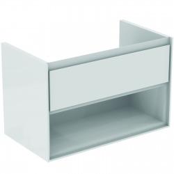 CONNECT AIR Meuble pour lavabo-plan 517 x 800 x 440 mm Couleur blanc laqué (E0827B2)