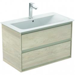 CONNECT AIR Meuble pour lavabo-plan 517 x 800 x 440 mm Couleur Chêne cérusé (E0819UK)