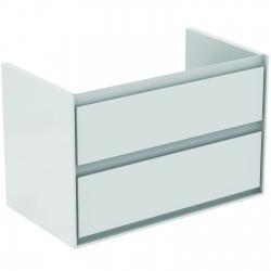 CONNECT AIR Meuble pour lavabo-plan 517 x 800 x 440 mm Couleur blanc laqué (E0819B2)