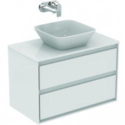 CONNECT AIR Meuble pour lavabo-plan 517 x 800 x 440 mm Couleur Blanc laqué/gris plume mat (E0819KN)