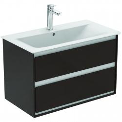 CONNECT AIR Meuble pour lavabo-plan 517 x 800 x 440 mm Couleur marron chocolat mat (E0819VY)