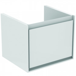 CONNECT AIR Meuble pour lavabo Cube 55 cm, 400 x 485 x 412 mm Couleur Blanc laqué (E0844B2)