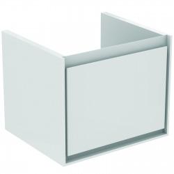 CONNECT AIR Meuble pour lavabo Cube 55 cm, 400 x 485 x 412 mm Couleur Blanc laqué/gris plume mat (E0844KN)