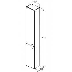 Ideal Standard Connect Space colonne de rangement blanc brillant (E0379WG)