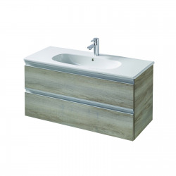 TESI Meuble pour lavabo 100 x 44 x (H) 49 cm Couleur bois naturel (T0052VI)