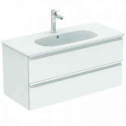 TESI Meuble pour lavabo 100 x 44 x (H) 49 cm Couleur voile de bleu mnat (T0052WI)