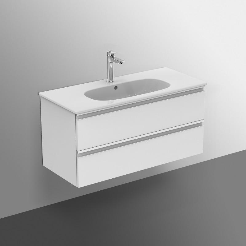 tesi meuble pour lavabo 100 x 44 x h 49 cm couleur voile de bleu mnat t0052wi livea. Black Bedroom Furniture Sets. Home Design Ideas