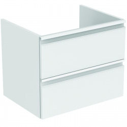 TESI Meuble pour lavabo 60 x 44 x (H) 49 cm Couleur blanc laqué (T0050OV)