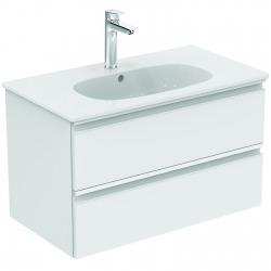 TESI Meuble pour lavabo 80 x 44 x (H) 49 cm Couleur bois naturel (T0051VI)