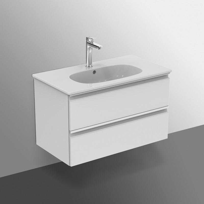 TESI Meuble pour lavabo 80 x 44 x (H) 49 cm Couleur blanc ...