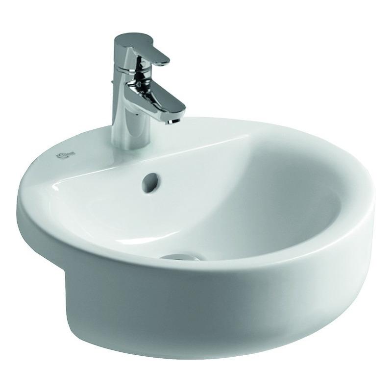 connect lavabo semi encastrer 450 x 170 x 450 mm blanc idealplus e8065ma livea sanitaire sas. Black Bedroom Furniture Sets. Home Design Ideas