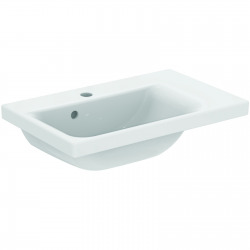 Connect Space Lavabo  600 x 175 x 380 mm Couleur blanc IdealPlus version droite (E1326MA)