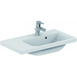 CONNECT SPACE Lavabo Space 700x380x175 mm gauche blanc IdealPlus (E1327MA)