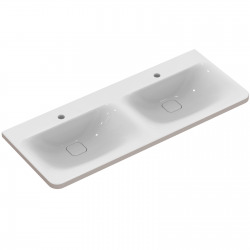 TONIC II Lavabo-plan double 121,5 x 49 cm blanc (K087001)