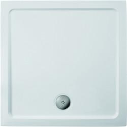 Sprchová vanička litý mramor 910 x 910 mm, bílá