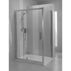 Sprchové dveře pivotové 120 cm, silver bright (lesklá stříbrná)