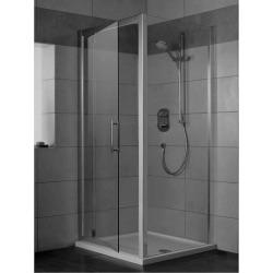 Sprchové dveře pivotové 90 cm, silver bright (lesklá stříbrná)
