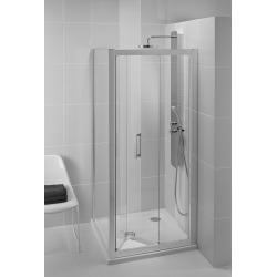 Sprchové dveře skládací 90 cm, silver bright (lesklá stříbrná)