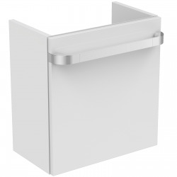 TONIC II Meuble pour lavabo Version gauche Couleur laqué blanc brillant (R4318WG)