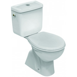 EUROVIT WC avec sortie verticale 355 x 760 x 655 mm blanc (V335701)