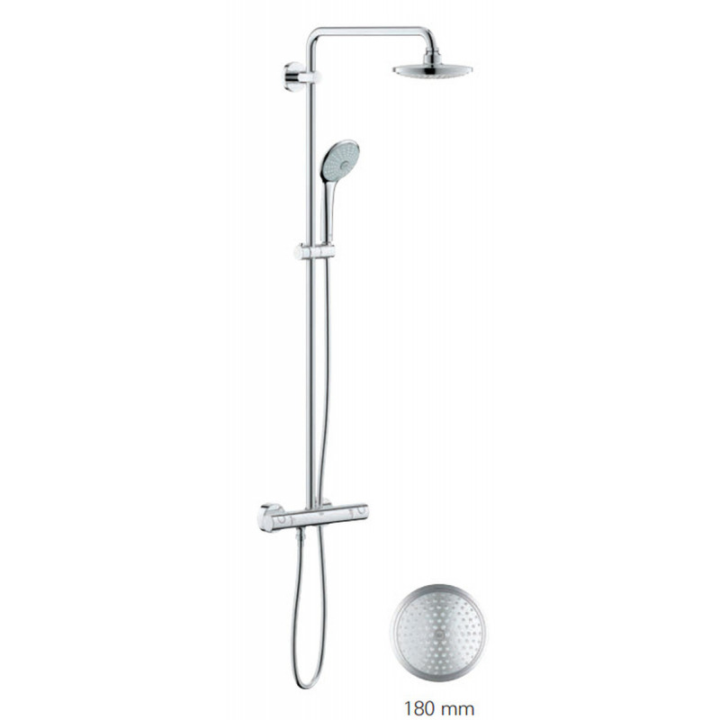 grohe euphoria system 180 colonne de douche avec mitigeur. Black Bedroom Furniture Sets. Home Design Ideas