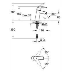 Eurosmart Mitigeur monocommande Lavabo Taille M (23324001)