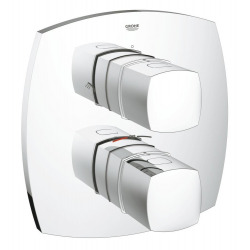 Grandera - Set de finition pour mitigeur thermostatique douche avec 2 sorties intégrées (19937000)