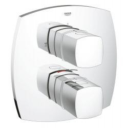 GRANDERA - Set de finition pour mitigeur thermostatique bain/douche avec 2 sorties (19948000)