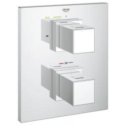 Grohtherm Cube - Set de finition pour mitigeur thermostatique 2 sorties pour bain/douche (19958000)