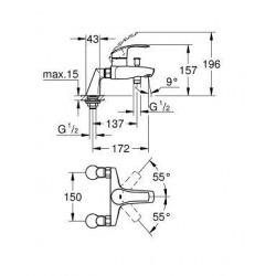 EUROSMART NEW - Mitigeur monocommande Bain / Douche (33303002)