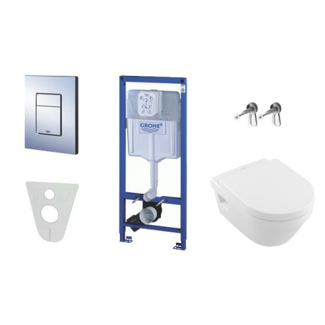 pack wc grohe rapid sl cuvette villeroy boch plaque de commande grohe skate chrome. Black Bedroom Furniture Sets. Home Design Ideas
