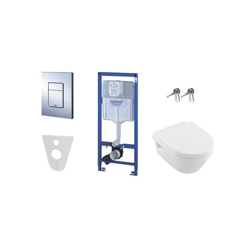Pack wc grohe rapid sl cuvette villeroy boch plaque for Wc gain de place villeroy et boch