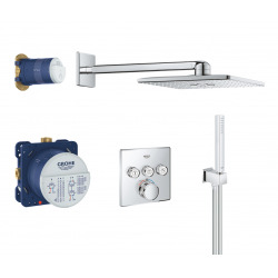 Grohtherm SmartControl Perfect shower set with Rainshower 310 SmartActive Cube (34706000)