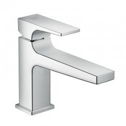 Metropol 100 Mitigeur de lavabo CoolStart poignée manette bec long, bonde Push-Open chrome (32503000)