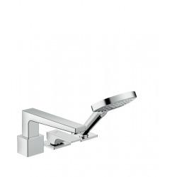 Metropol Set de finition mitigeur 3 trous pour montage sur bord de baignoire sans Secuflex, poignée manette, chromé (32551000)