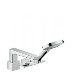 Metropol Set de finition mitigeur 3 trous pour montage sur bord de baignoire sans Secuflex, poignée étrier,chromé (74551000)